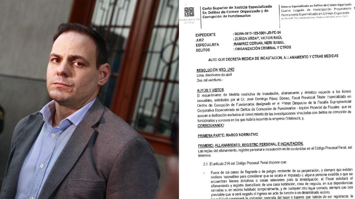 Juez Zúñiga ordena incautación de dos terrenos vinculados a Mark Vito