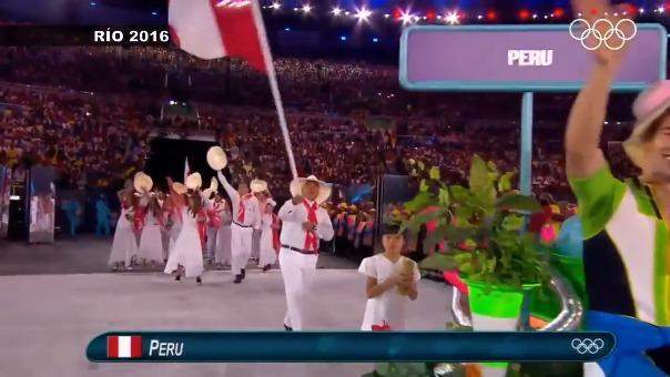 Perú en las ceremonias de apertura de los Juegos Olímpicos
