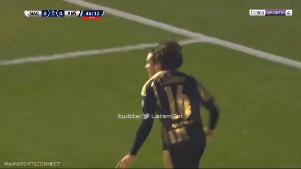 Agustín Canobbio anotó el 1-0 de Peñarol ante Nacional