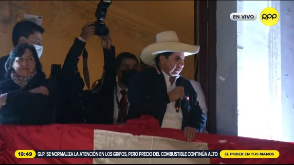 Pedro Castillo fue proclamado presidente electo.