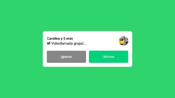VIDEO: Así podrás unirte a las videollamadas grupales en curso desde WhatsApp