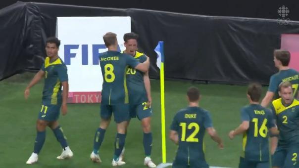 Lachlan Wales anotó el 1-0 de Australia sobre Argentina