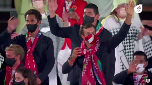 El desfile de la delegación peruana en los Juegos Olímpicos Tokio 2020
