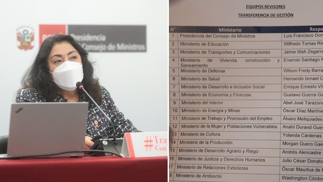 Violeta Bermúdez rindió cuentas sobre su gestión en la PCM.
