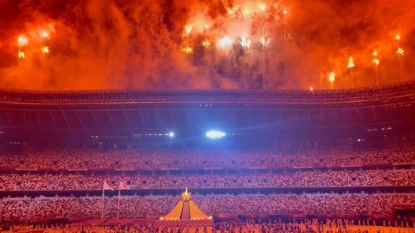 Así fue el cierre de la inauguración de los Juegos Olímpicos Tokio 2020