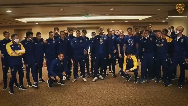 El mensaje de los jugadores del primer plantel de Boca Juniors a los juveniles