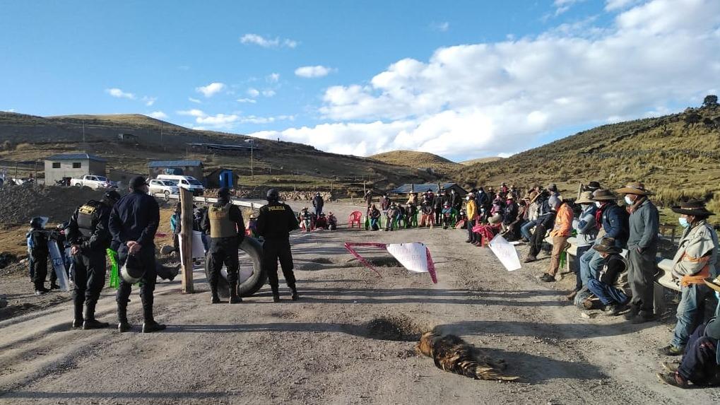 Por cuarto día consecutivo, el corredor minero permanece bloqueado en el distrito de Chumbivilcas.
