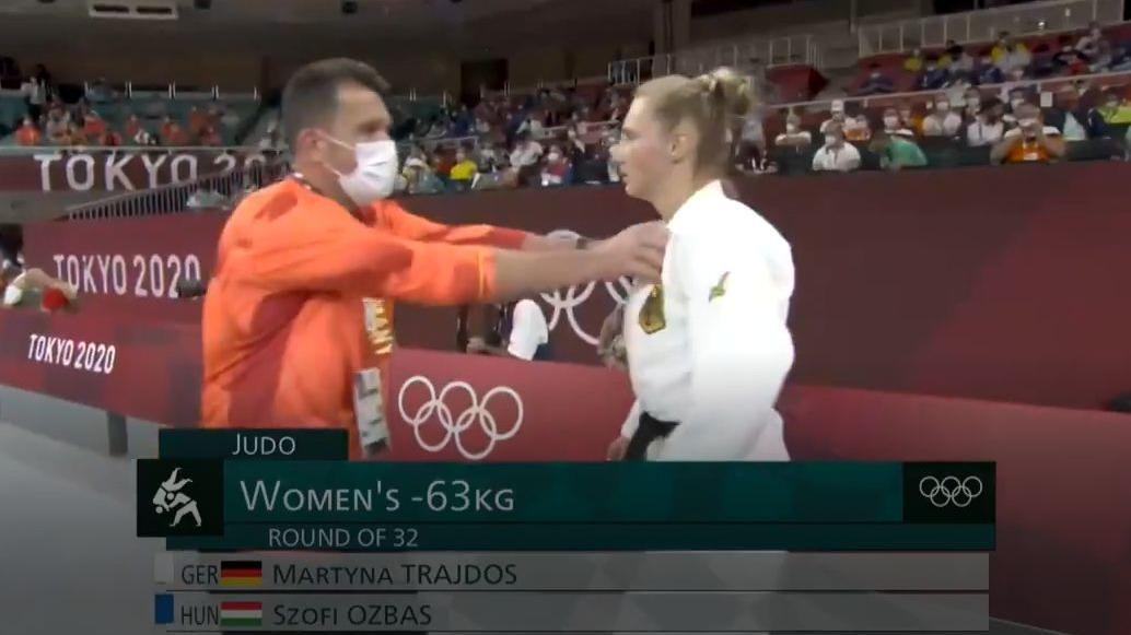 Esta es la imagen viral de la judoca alemana Martyna Trajdos.