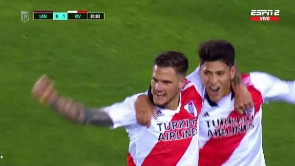 River Plate 1-0 Lanús: así fue el gol de Bruno