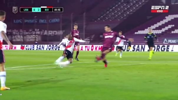 River Plate vs Lanús: así fue el primer gol de Nicolás de la Cruz