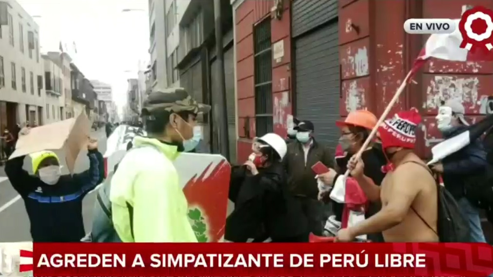 Agresión a simpatizante de presidente Pedro Castillo