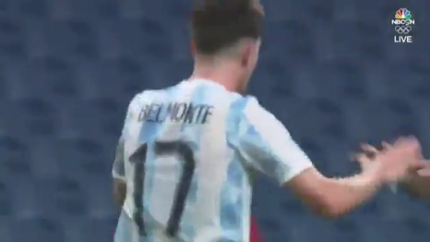 Tomás Belmonte convirtió el empate 1-1 de Argentina ante España