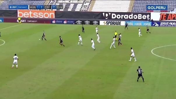 Sporting Cristal 1-1 Municipal: así fue el gol de John Marchán