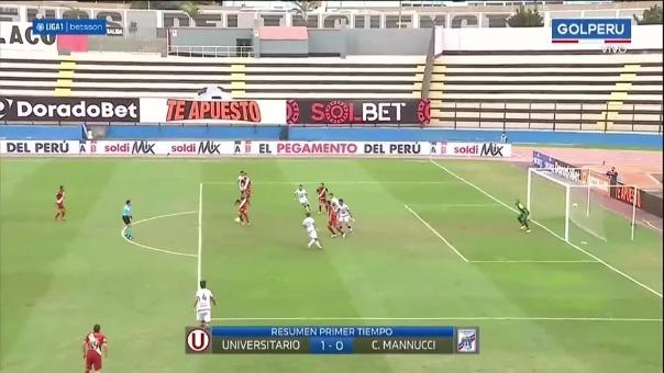 Universitario 1-0 Mannucci: así fue el gol de Novick