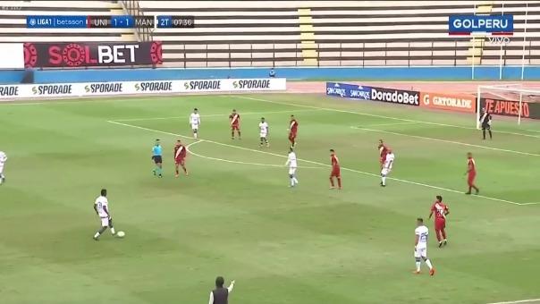 Universitario 1-2 Mannucci: así fue el gol de Rely Fernández