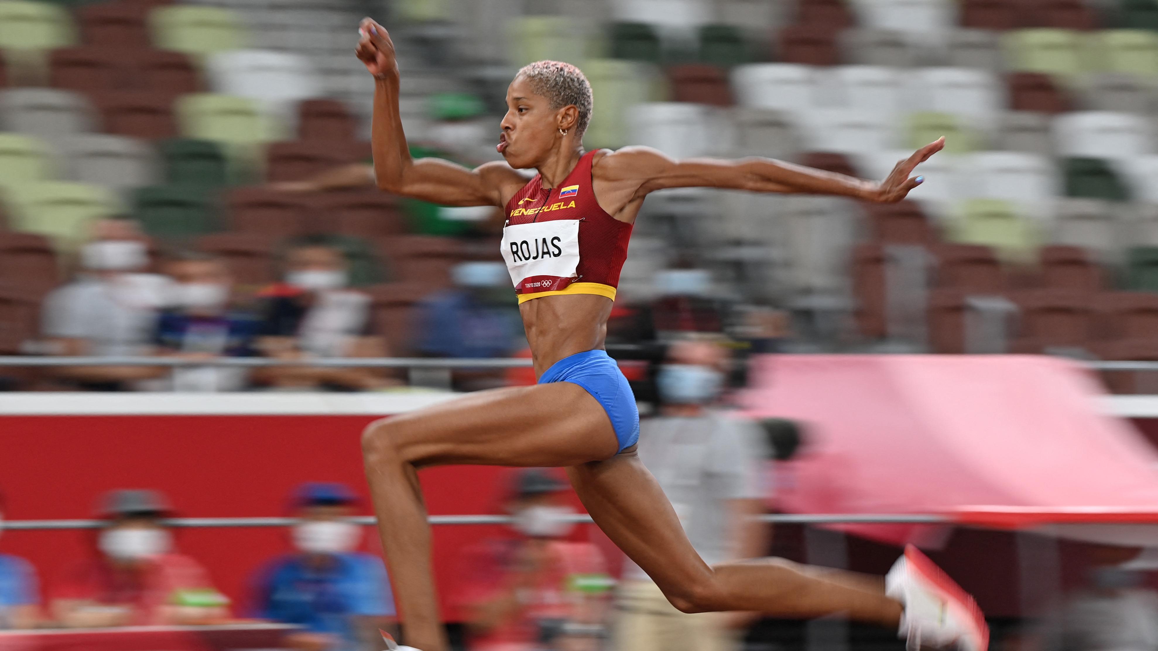 Así fue el salto de Yulimar Rojas para lograr el oro en Tokio 2020.