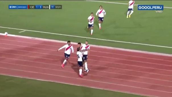 Cienciano 1-3 Municipal: así fue el gol de Piero Ratto