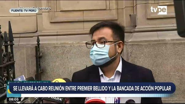 Guido Bellido se reúne con Acción Popular.