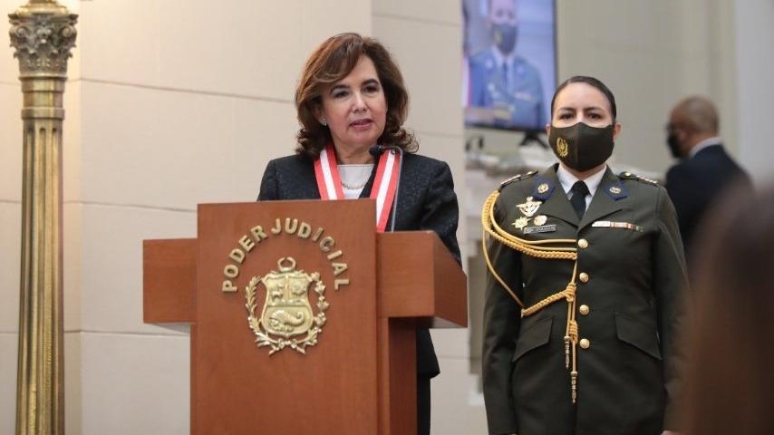Presidenta del Poder Judicial encabezó la ceremonia por el Día del Juez.