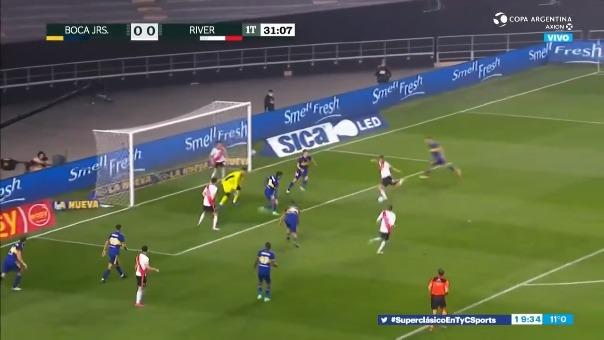Gol errado por Braian Romero