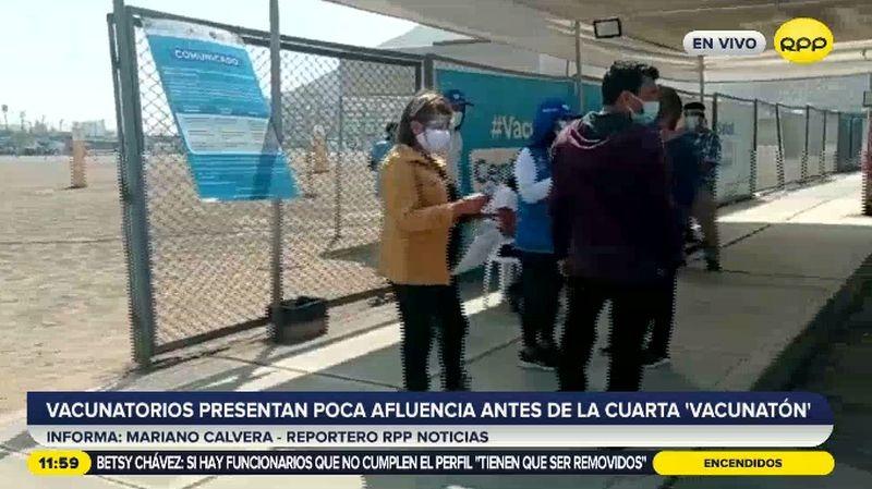 Este caso fue denunciado en el vacunatorio del Estadio Monumental.
