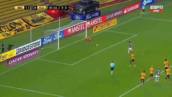 Fred convirtió el 1-1 de Fluminense ante Barcelona SC