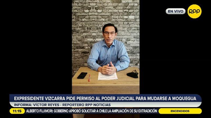 El propio Martín Vizcarra sustentó su pedido ante la jueza.