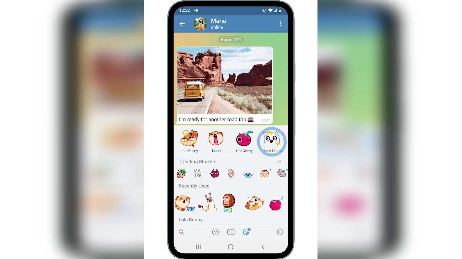 Los stickers se lucen en la actualización de Telegram.