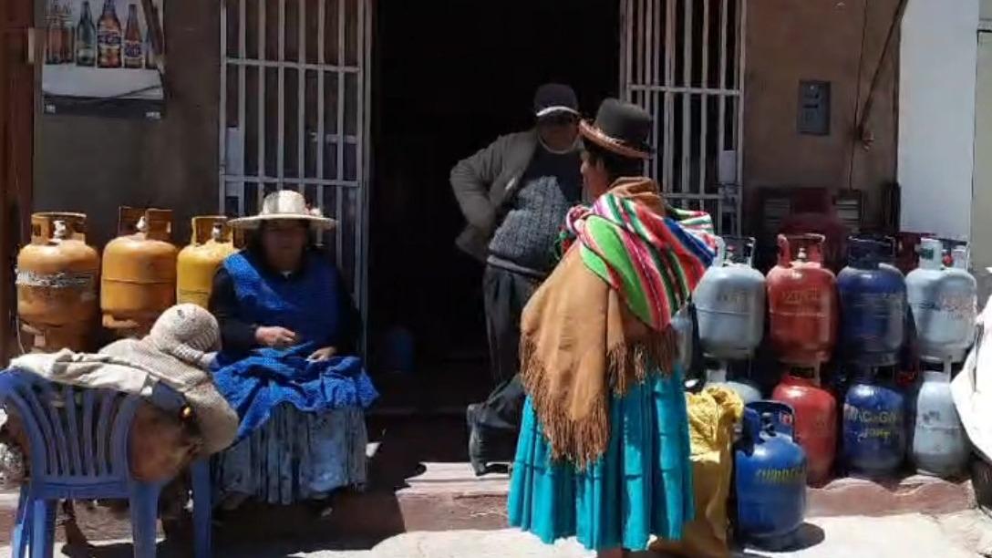 El balón de gas boliviano se vende a 35 soles.