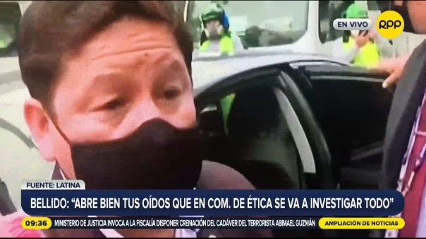 Guido Bellido y su polémica respuesta a una periodista.
