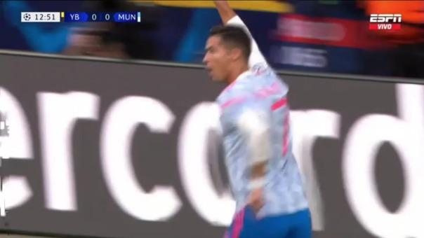 Así fue el gol de Cristiano Ronaldo entre Manchester United vs Young Boys
