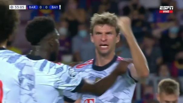 Así fue el gol de Thomas Müller en el Barcelona vs Bayern Munich