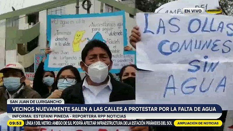 La marcha recorrió varias calles desde SJL hasta la sede del Congreso.