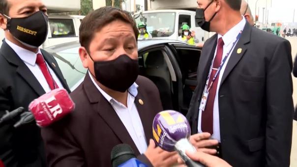 Guido Bellido protagonizó incidente con reportero.