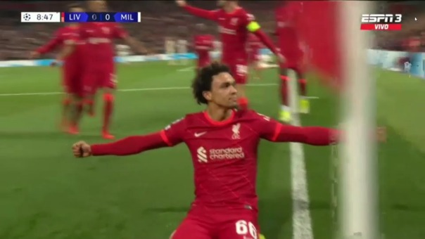 Liverpool 1-0 Milan: así fue el gol de Tomori