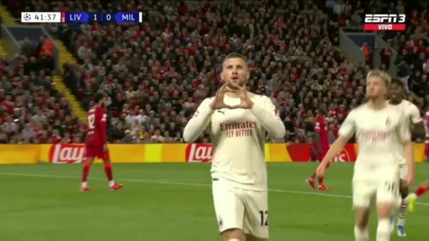 Liverpool 1-1 Milan: así fue el gol de Rebic