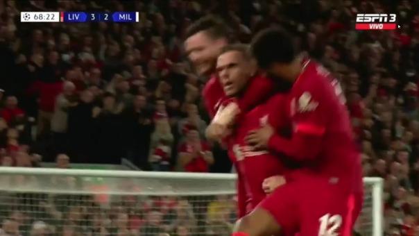 Liverpool 3-2 Milan: así fue el gol de Henderson