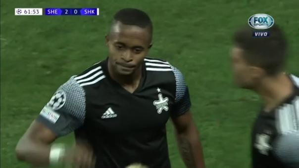 Así fue el gol de Momo Yansane para el Sheriff 2-0 Shakhtar Donestsk
