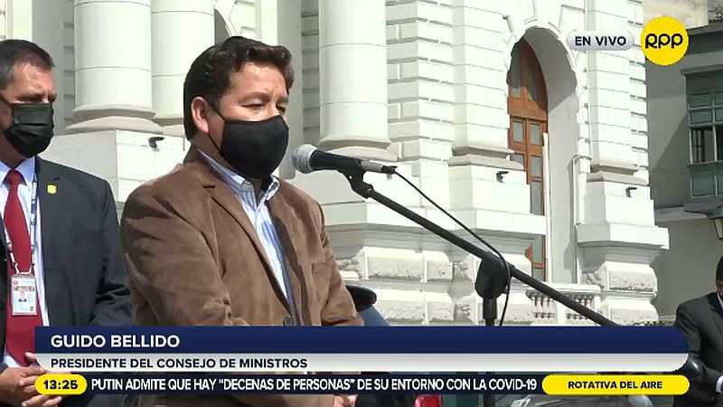 Guido Bellido se refirió a eventuales cambios en el Gabinete.