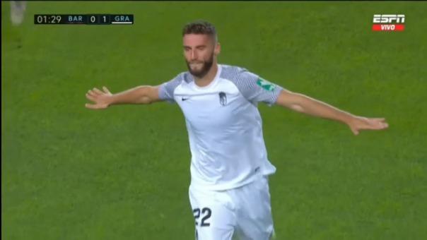 Así fue el gol de Domingos Duarte de Granada ante Barcelona
