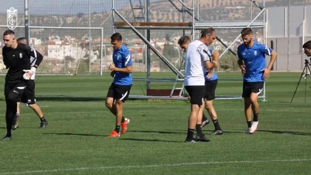La última práctica del Granada previo al partido con Barcelona