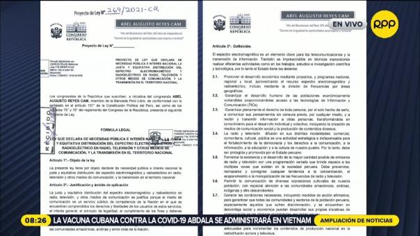 Perú Libre presentó proyecto que buscaría direccionar contenidos en medios