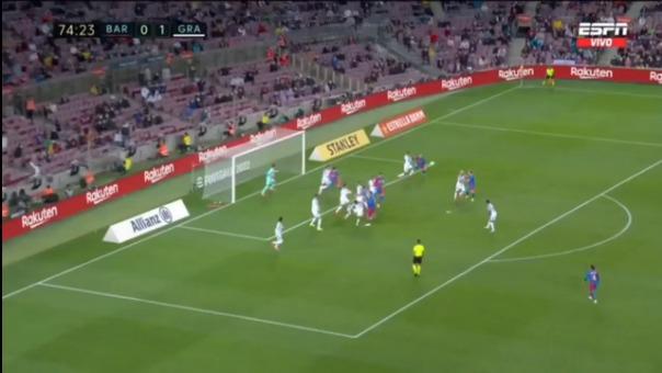 ¡Al minuto 90! Ronald Araujo anotó el 1-1 de FC Barcelona ante Granada