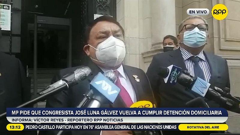 La defensa de José Luna Gálvez pidió que se confirma la revocatoria del arresto domiciliario.