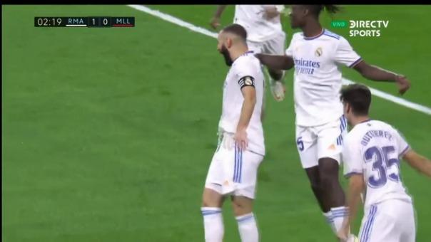 Así fue el gol de Karim Benzema en Real Madrid 1-0 Mallorca