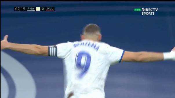 Así fue el gol de Benzema