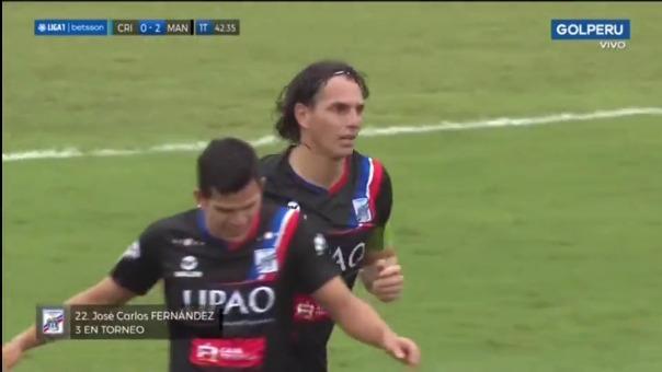 Así fue el gol de José Carlos Fernández de Mannucci ante Cristal