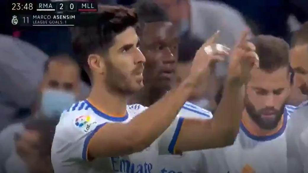 Primer gol de Marco Asensio frente al Mallorca en el Bernabéu.
