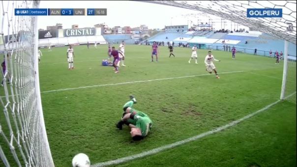Este es el segundo gol de Alex Valera en el Universitario 3-0 ante Alianza Universidad