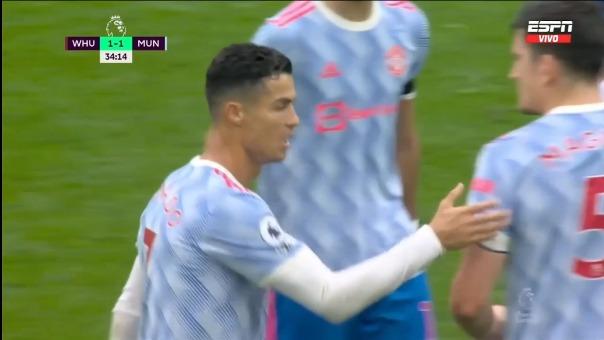 Cristiano Ronaldo volvió a anotar con Manchester United en duelo ante West Ham